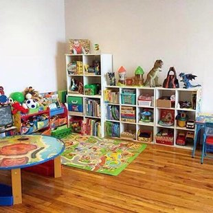 Great storage ideas here! Playroom by @lady_a_bk